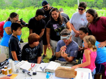 MAPS demonstration at Cowee Mounds